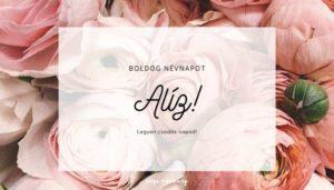 Aliz névnap üdvözlő borító