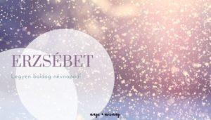 Erzsébet névnap üdvözlő borító
