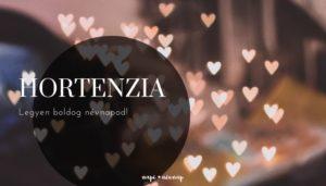 Hortenzia névnap üdvözlő borító