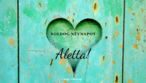 Aletta név üdvözlő borító