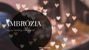 Ambrózia név üdvözlő borító