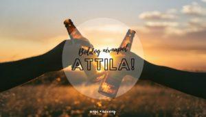 Attila név üdvözlő borító