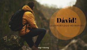 Dávid név üdvözlő borító