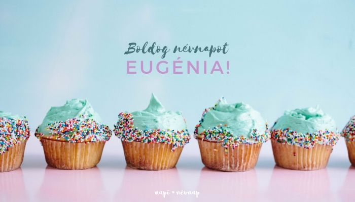 Eugénia név üdvözlő borító