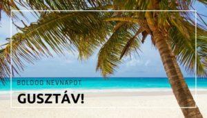 Gusztáv név üdvözlő borító
