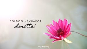 Loretta név üdvözlő borító