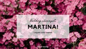Martina név üdvözlő borító