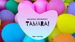 Tamara név üdvözlő borító