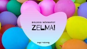 Zelma név üdvözlő borító