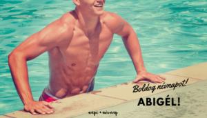 Abigél név üdvözlő borító