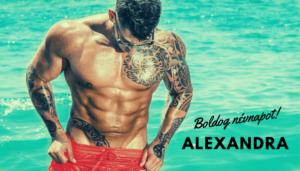 Alexandra név üdvözlő borító
