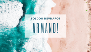 Armand név üdvözlő borító
