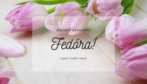 Fedóra név üdvözlő borító