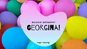 Georgina név üdvözlő borító