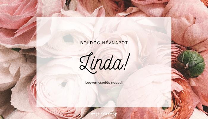 Linda név üdvözlő borító