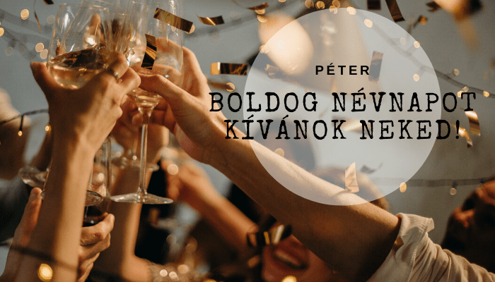 Péter név üdvözlő borító