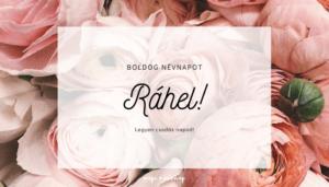 Ráhel név üdvözlő borító