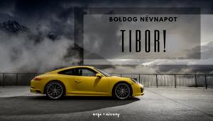 Tibor név üdvözlő borító