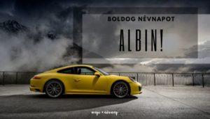 Albin név üdvözlő borító