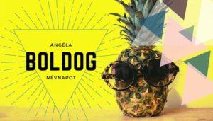 Angela név üdvözlő borító