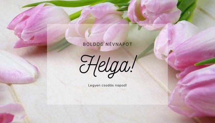 Helga név üdvözlő borító