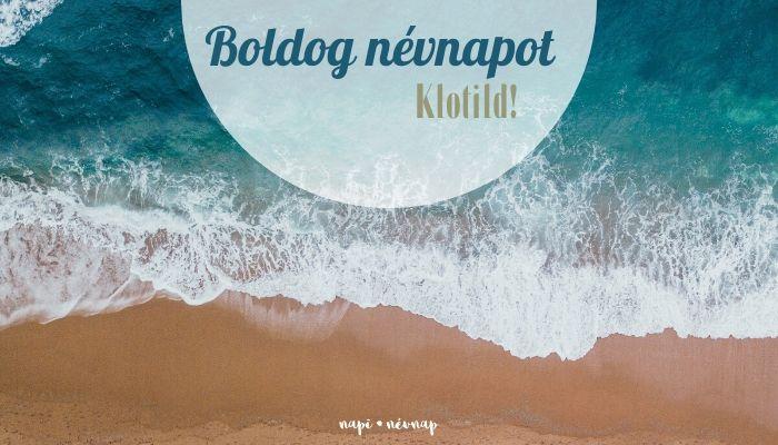 Klotild név üdvözlő borító