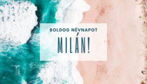 Milán név üdvözlő borító