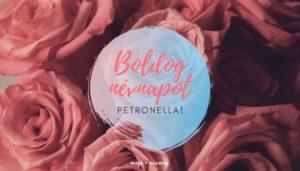 Petronella név üdvözlő borító