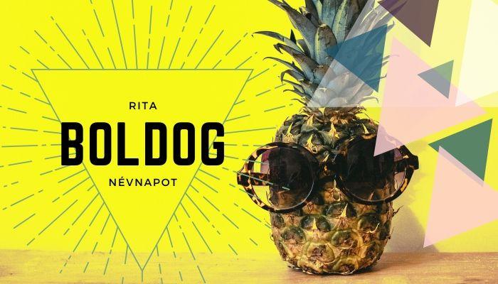 Rita név üdvözlő borító