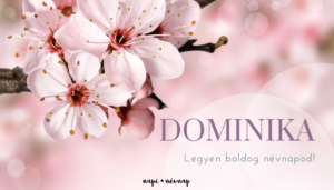 Dominika név üdvözlő borító