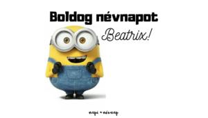 Beatrix név üdvözlő borító