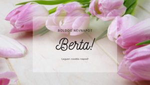 Berta név üdvözlő borító