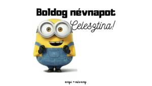 Celesztina név üdvözlő borító