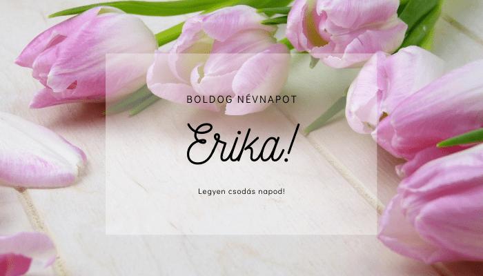 Erika név üdvözlő borító