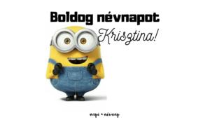 Krisztina név üdvözlő borító