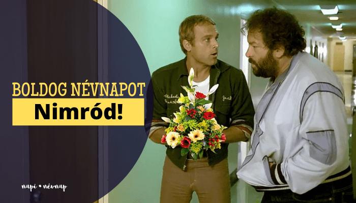 Nimród név üdvözlő borító