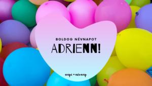 Adrienn név üdvözlő borító