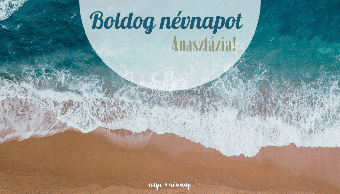 Anasztázia név üdvözlő borító