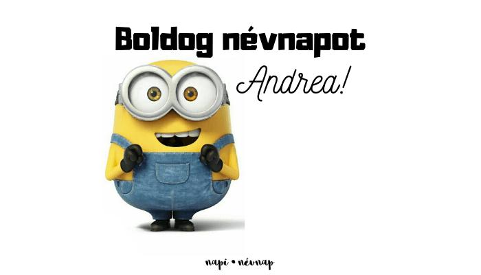 Andrea név üdvözlő borító