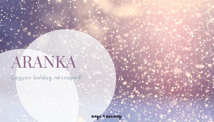 Aranka név üdvözlő borító