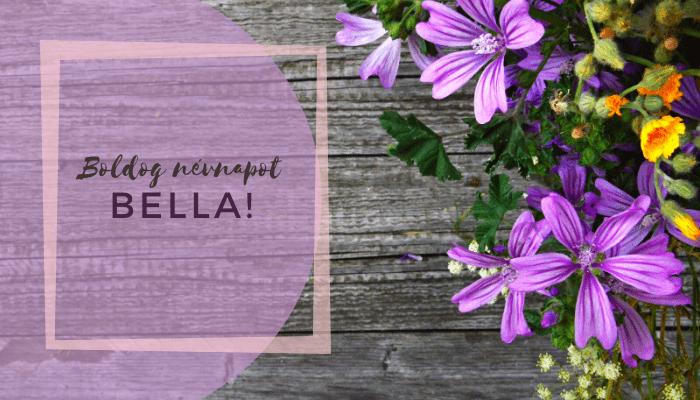 Bella név üdvözlő borító