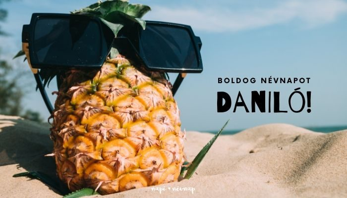 Daniló név üdvözlő borító