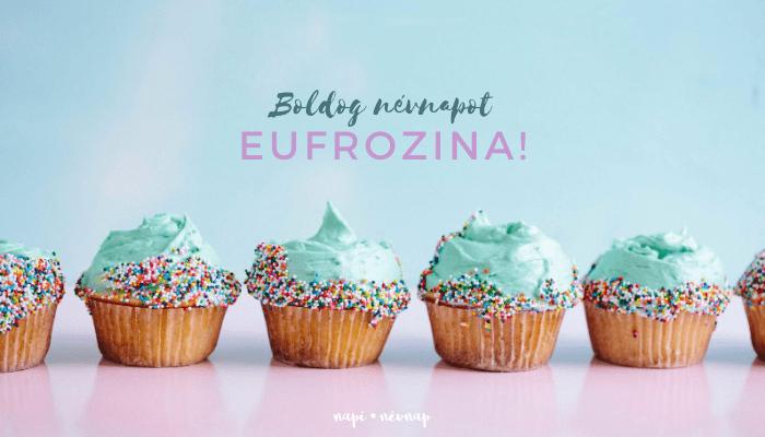 Eufrozina név üdvözlő borító