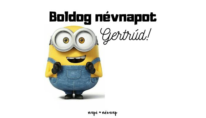 Gertrúd név üdvözlő borító