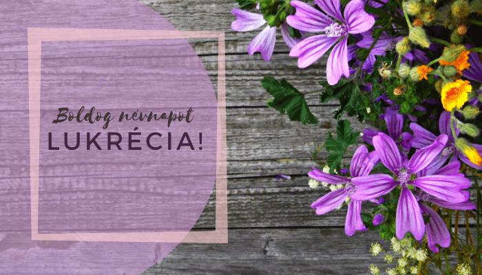 Lukrécia név üdvözlő borító
