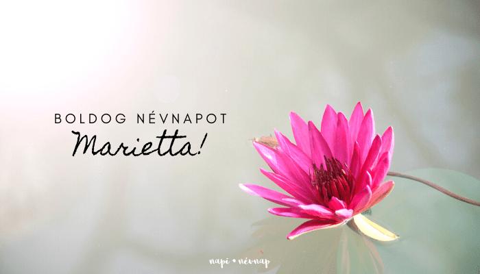 Marietta név üdvözlő borító