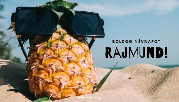 Rajmund név üdvözlő borító