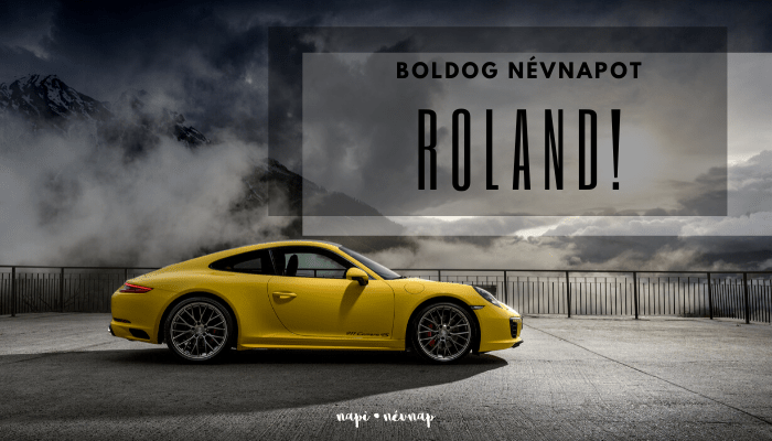 Roland név üdvözlő borító