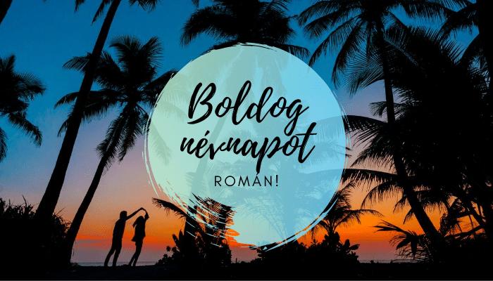Román név üdvözlő borító